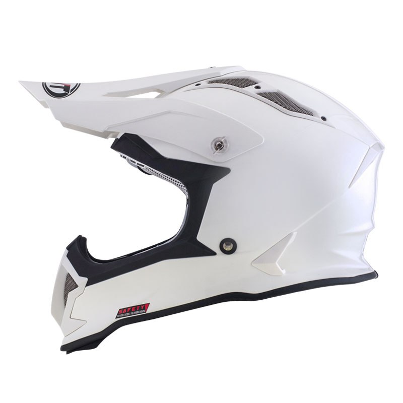 Casque Cross Kyt Strike Eagle Plain Blanc