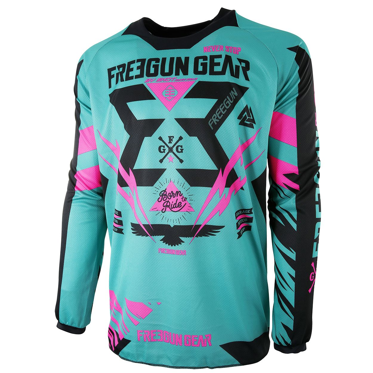 Maillot cross Shot destockage CONTACT TROOPER MINT NEON ROSE  2017