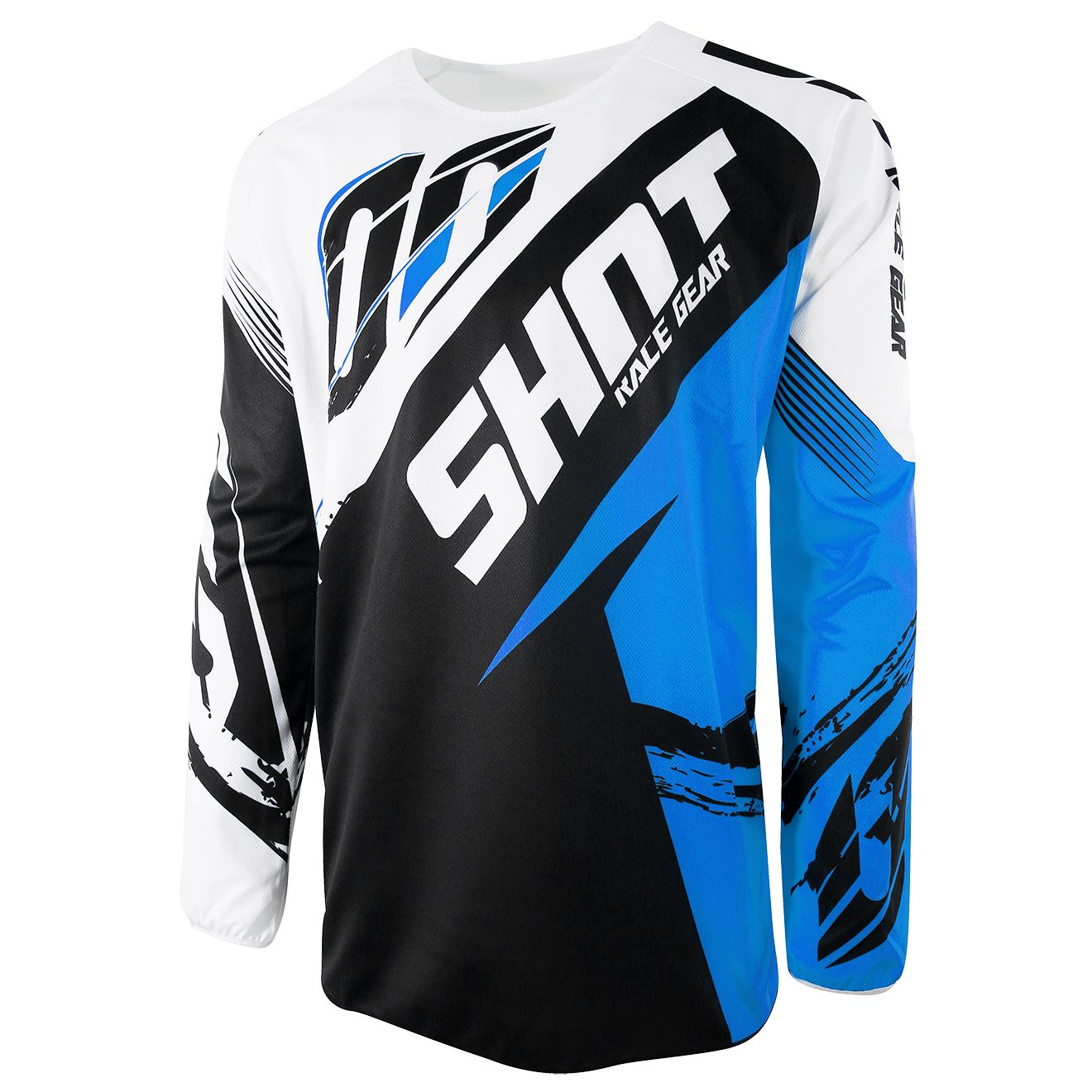 Maillot cross Shot destockage DEVO FAST BLEU ENFANT