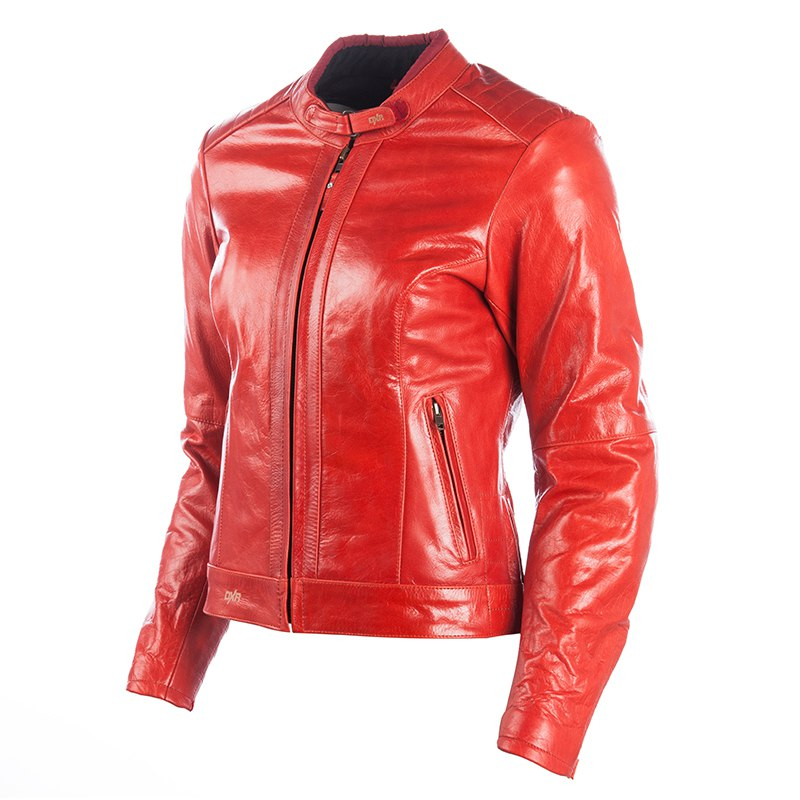 Blouson cuir moto femme en solde
