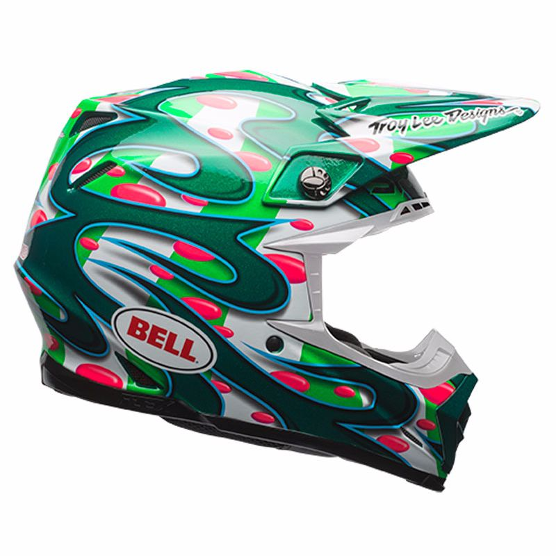 Casque Cross Bell Moto-9 Carbon Flex - Mc Replica Vert - Edition Limitee -