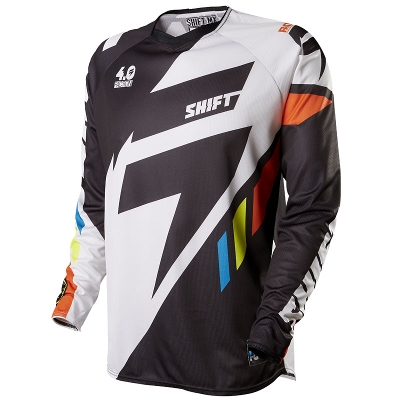 Maillot cross Shift destockage FACTION  - MAINLINE - BLACK/WHITE 2015
