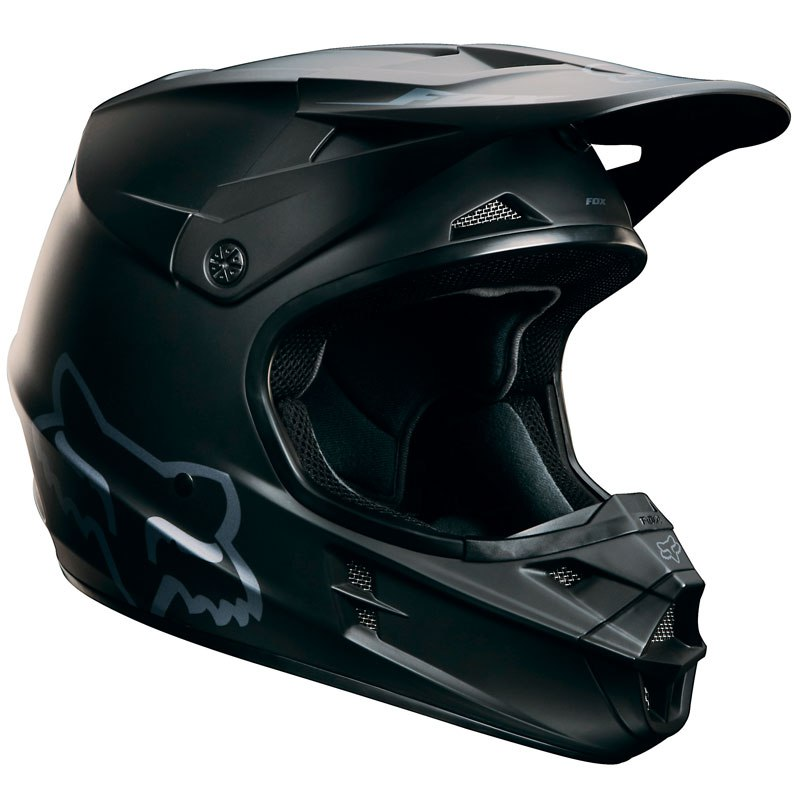 Casque cross Fox V1 YOUTH - NOIR MAT -