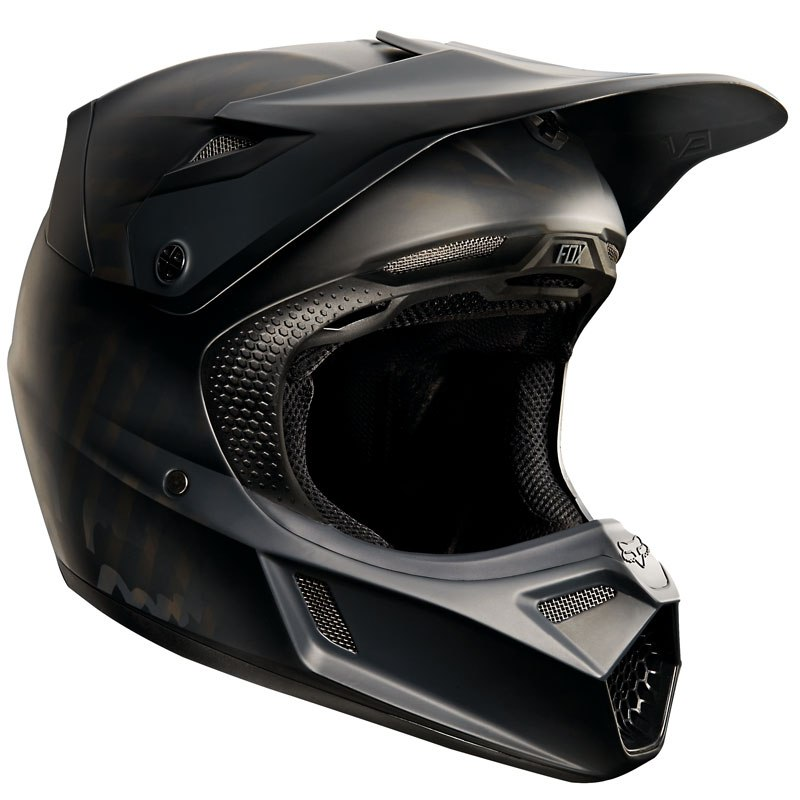 Casque cross Fox V3 YOUTH - NOIR MAT