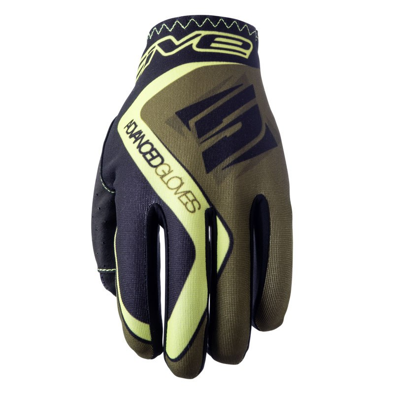 Gants Cross Five Mx Practice Kaki Fluo Yellow