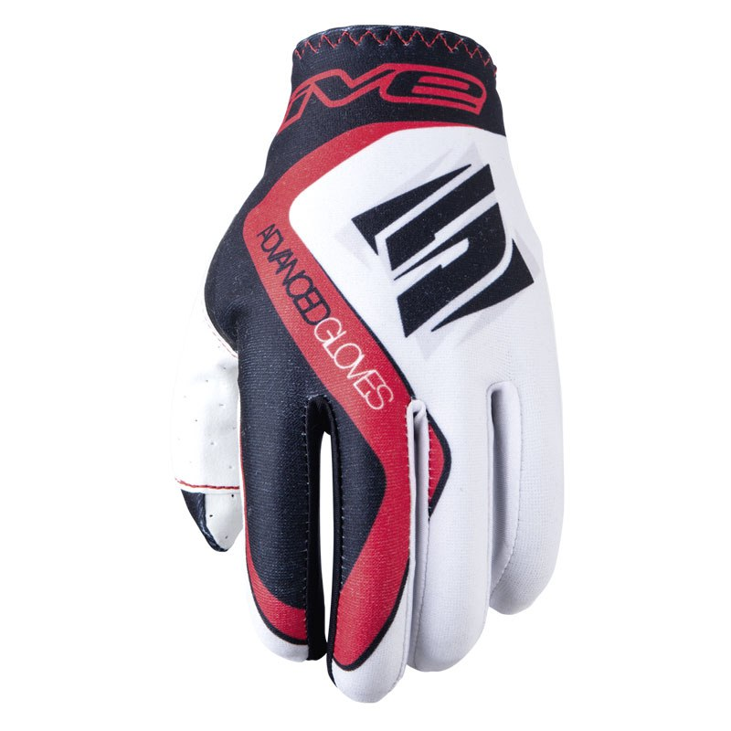Gants Cross Five Mx Practice White Red