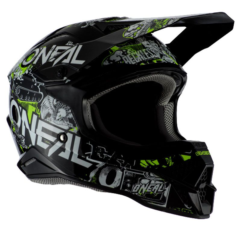 Casque cross O'Neal SERIES 3 - ATTACK 2.0 - BLACK NEON YELLOW GLOSSY 2021