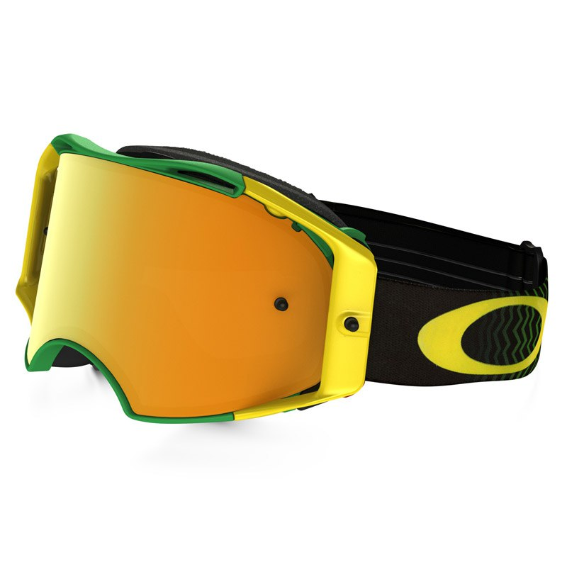 masque cross oakley airbrake mx shockwave green yellow lens iridium 2016 masque et lunettes. Black Bedroom Furniture Sets. Home Design Ideas