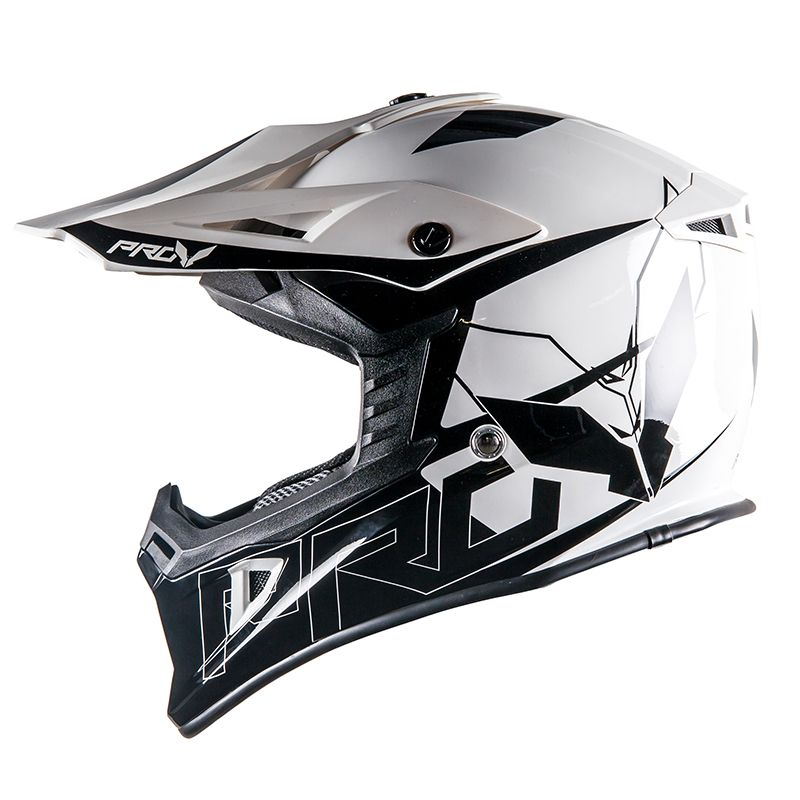 Casque cross Prov SKUD DALLAS BLACK/WHITE 2017