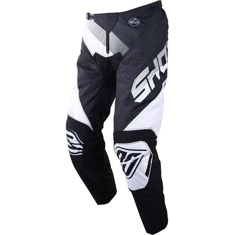 Pantalon cross Shot DEVO ULTIMATE - BLACK WHITE 2019