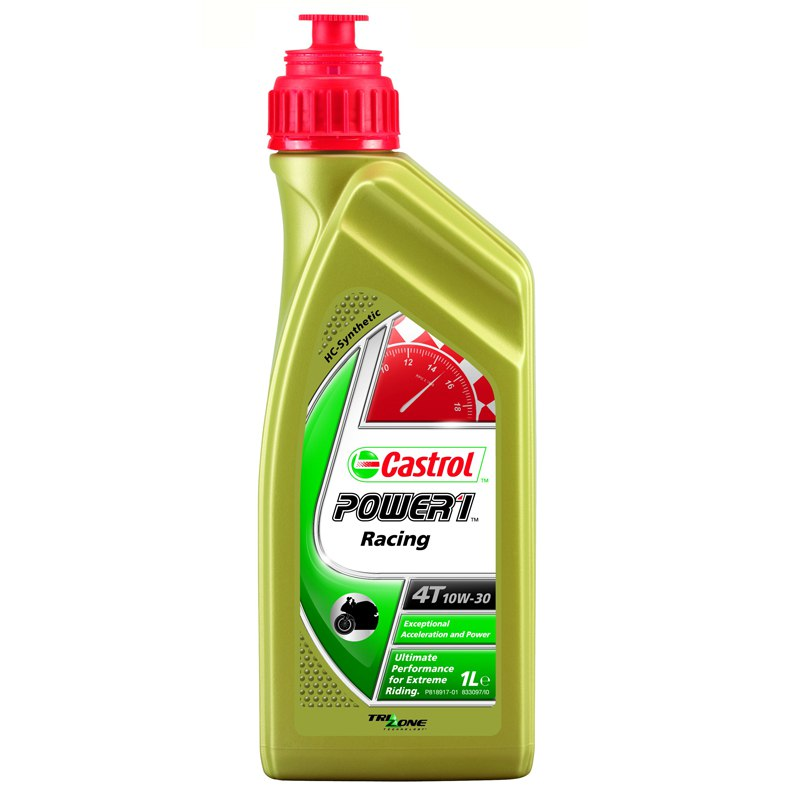 huile moteur castrol power 1 racing 4t 10w30 1 litre huile spray entretien. Black Bedroom Furniture Sets. Home Design Ideas