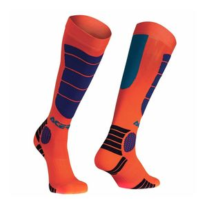 Chaussettes Acerbis MX IMPACT JUNIOR - ORANGE FLUO / BLEU - 2017