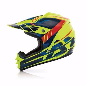 Casque cross Acerbis IMPACT JUNIOR 3.0 - BLEU / JAUNE FLUO - 2017
