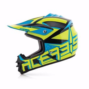 Casque cross Acerbis IMPACT JUNIOR 3.0 - JAUNE / BLEU - 2017