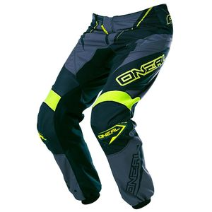 Pantalon cross O'Neal ELEMENT RACEWEAR 2017 NOIR GRIS JAUNE FLUO