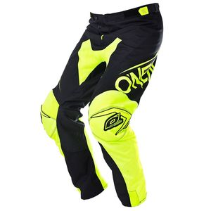 Pantalon cross O'Neal MAYHEM BLOCKER - NOIR JAUNE FLUO - 2018