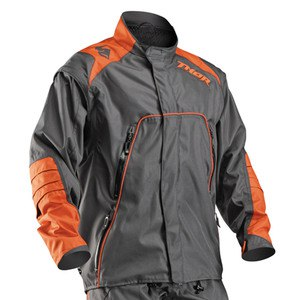 Veste enduro Thor RANGE 2017 -  CHARBON ORANGE
