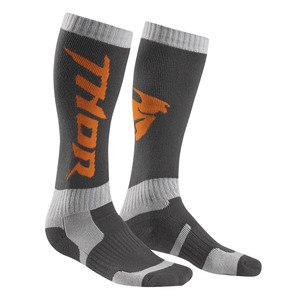 Chaussettes Thor MX 2017 - CHARBON ORANGE