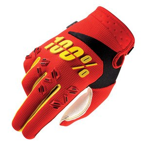 Gants cross 100% AIRMATIC - RED 2017