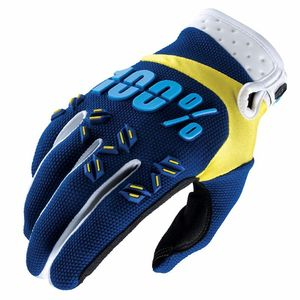 Gants cross 100% AIRMATIC - NAVY/YELLOW 2017