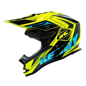 Casque cross Kenny PERFORMANCE 2016 BLACK YELLOW FLO CYAN