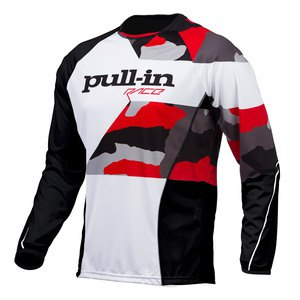 Maillot cross Pull-in Destockage FIGHTER 2016 CAMO NOIR BLANC ROUGE