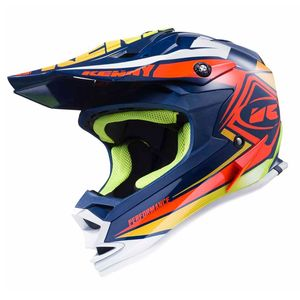 Casque cross Kenny KID PERFORMANCE - NAVY / ORANGE / LIME - 2017