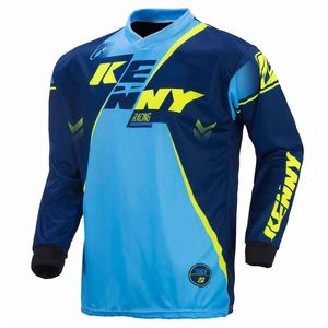 Maillot cross Kenny TRACK - MARINE / CYAN / JAUNE FLUO - 2017