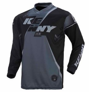 Maillot cross Kenny TRACK YOUTH - NOIR / GRIS - 2017