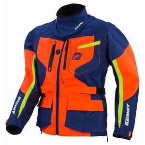 Veste enduro Kenny TITANIUM - MARINE / ORANGE / LIME - 2017