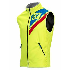 BODY WARMER ENDURO - JAUNE FLUO BLEU ROUGE -