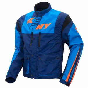 Veste enduro Kenny TRACK - CYAN / MARINE / ORANGE - 2017