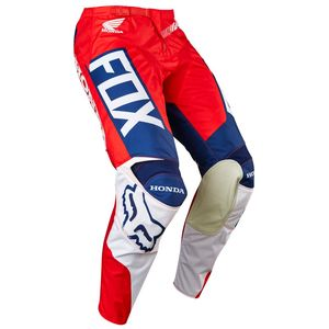 Pantalon cross Fox 180 HONDA 2017 - ROUGE BLANC