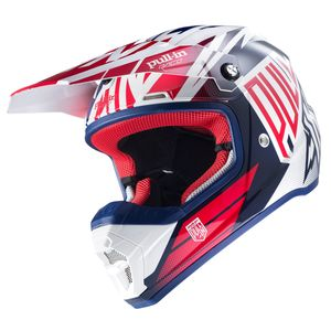 Casque cross Pull-in MOTO KID - MARINE / BLANC / ROUGE - 2017