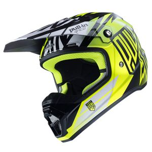 Casque cross Pull-in MOTO KID - NOIR / JAUNE FLUO - 2017