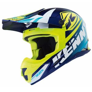 Casque cross Kenny TRACK - BLEU JAUNE FLUO -