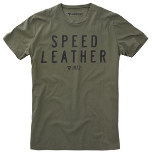T-shirt manches courtes Dainese SPEED LEATHER 1972 Kaki