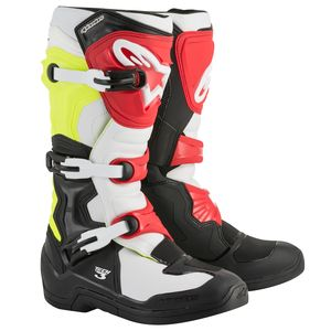 TECH 3 - BLACK WHITE YELLOW FLUO RED