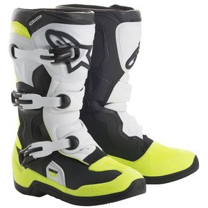 TECH 3S YOUTH - BLACK WHITE YELLOW FLUO