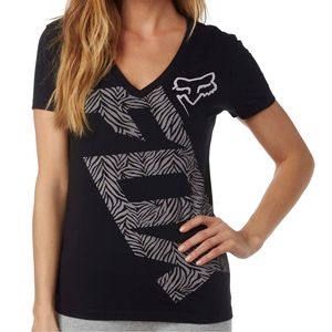 T-shirt manches courtes Fox ANGLED Noir