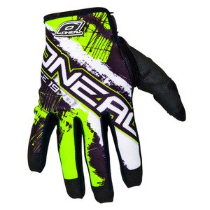 Gants cross O'Neal JUMP SHOCKER -  NOIR JAUNE FLUO - 2017