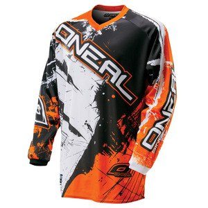 Maillot cross O'Neal ELEMENT SHOCKER - NOIR ORANGE - 2017