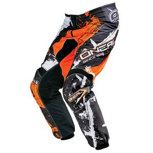 Pantalon cross O'Neal ELEMENT SHOCKER - NOIR ORANGE - 2017