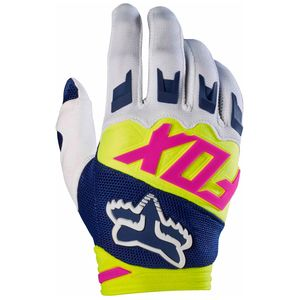 Gants cross Fox DIRTPAW RACE YOUTH 2017 - BLEU MARINE BLANC