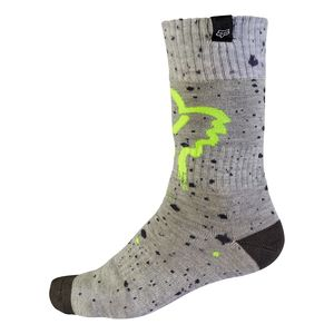 Chaussettes Fox MX YOUTH NIRV 2017 - GRIS JAUNE