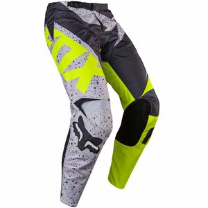 Pantalon cross Fox 180 NIRV 2017 - GRIS JAUNE