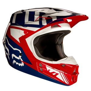 Casque cross Fox V1 FALCON 2017 - ROUGE BLANC