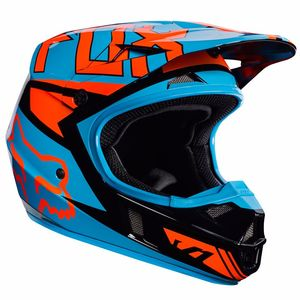 Casque cross Fox V1 YOUTH FALCON 2017 - NOIR ORANGE