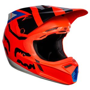 Casque cross Fox V3 YOUTH CREO 2017 - ORANGE (mat/brillant)