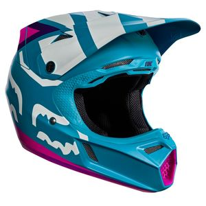 Casque cross Fox V3 YOUTH CREO 2017 - TEAL (mat/brillant)